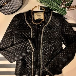 (New) Zara Quilted Leather Jacket
